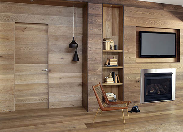 usind wood wall paneling for modern interior design