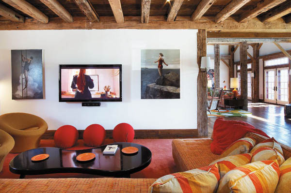 modern interior design ideas bright colors wooden walls and ceiling