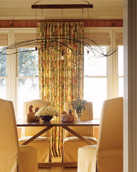 yellow cream and brown interior decorating