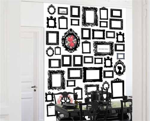 White And Black Wallpaper Modern Interior Decorating Ideas