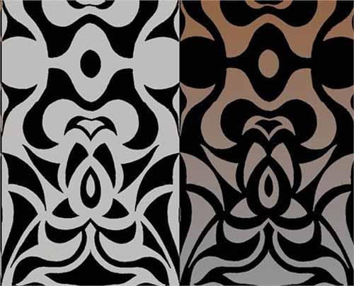 White And Black Wallpaper Modern Interior Decorating Ideas
