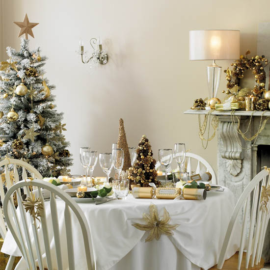 Golden Yellow Decorations And Ideas, Christmas Decor