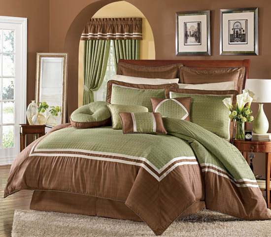 Outrageous Green And Brown Bedroom: 15 Tips For Interior Decorating With Bright Red Color