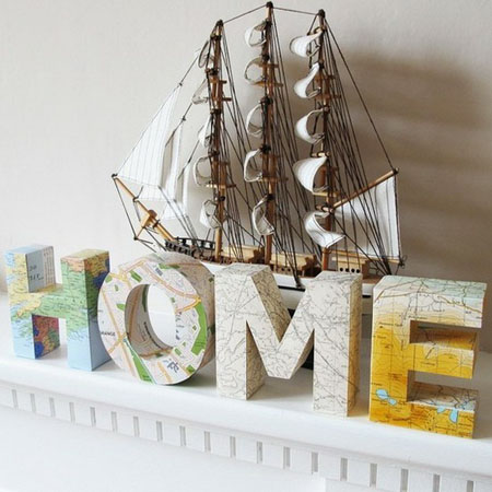 home letters for empty wall decoration