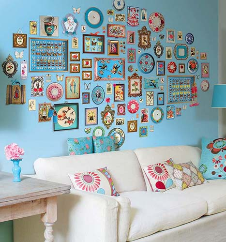 Empty Wall Decorating With Fabrics