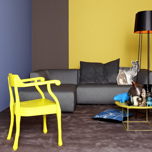 6 Modern Decorating Color Combinations, Yellow Paint Color in Fall Decor
