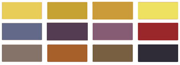 Modern Decorating Color Palette To Match Yellow Paint