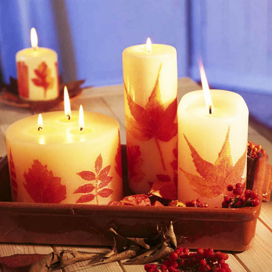 Fall Table Decorating Ideas Thanksgiving Centerpieces Candles 11