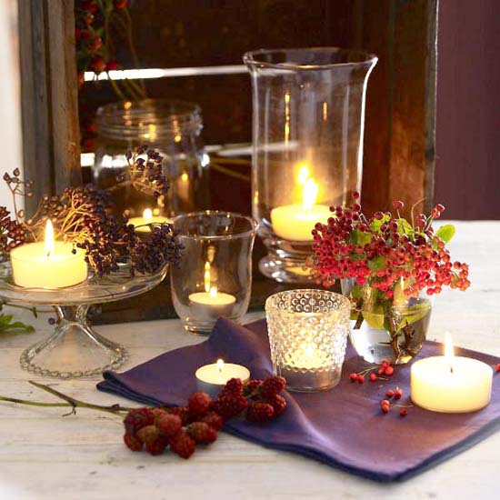 Delicieux Fall Table Decorating Ideas Thanksgiving Centerpieces Candles 7