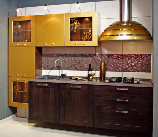 Golden Interior Design Ideas for Modern Kitchens and Dining Rooms
