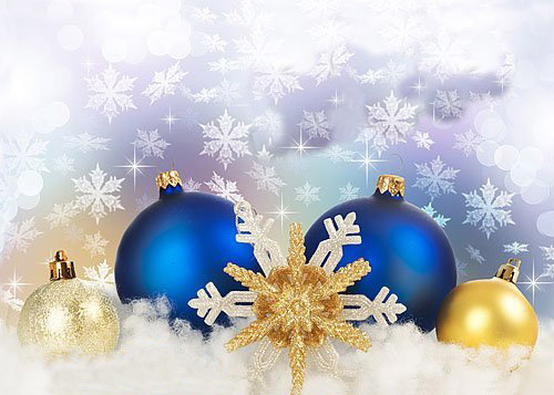 golden and blue christmas tree ornaments