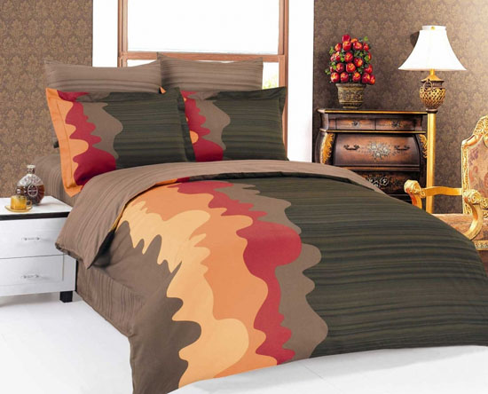 is another attractive trend in modern bedroom decorating diluted pastel bedroom colors look luxurious and elegant with charming bedding fabric patches - Modern Bedding Sets
