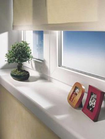 Window Sill Decorating With Picture Frames