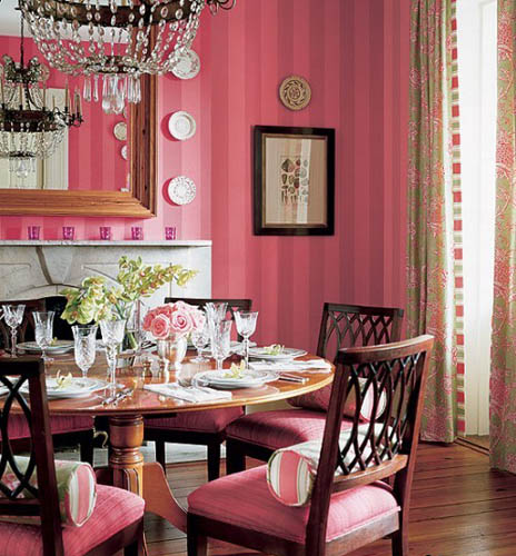 Modern Interior Design with Stripes, Striped Wallpaper and Home ...