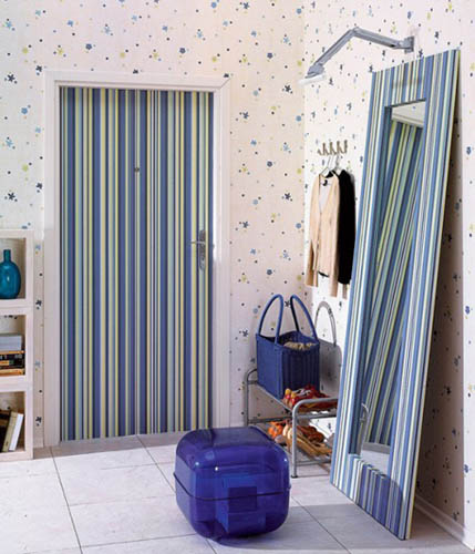 Striped Wallpaper And Home Decorating Fabrics Changing