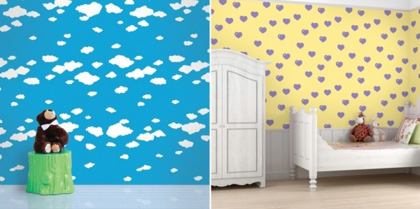 Young Children And Their Paprents Will Find New Wallpaper Patterns Creative Cheerful Boys Girls Enjoy Painting Writing On Beautiful