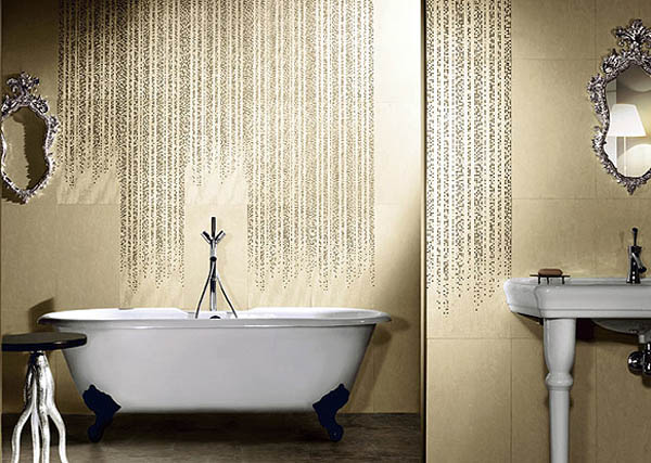 Glamorous Wall Tiles With Swarovski Crystals Bring Luxurious Bathroom Decorating Ideas Into Modern Homes Creating Stylish Mysterious And Elegant