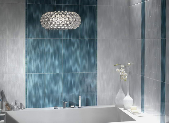 Bathroom Tiles With Crystals Luxurious Modern Wall Decoration - Crystal chandelier in bathroom