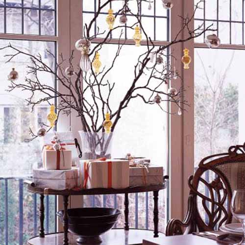 beautiful and simple interior window decorations for green holiday