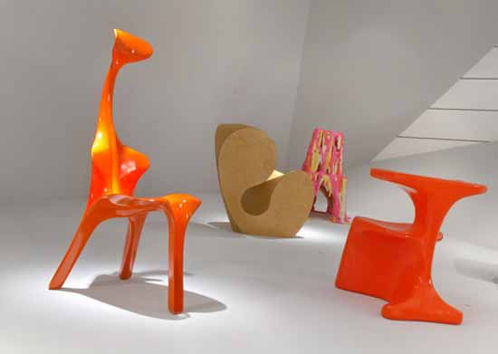 designer chair in orange color