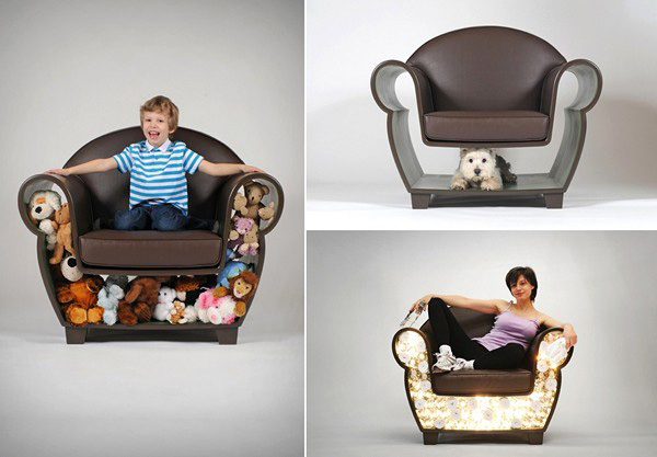 Creative Storage Furniture Design, Hollow Chair and Lost ...
