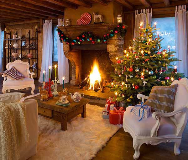 warm and cozy country home christmas decoration ideas