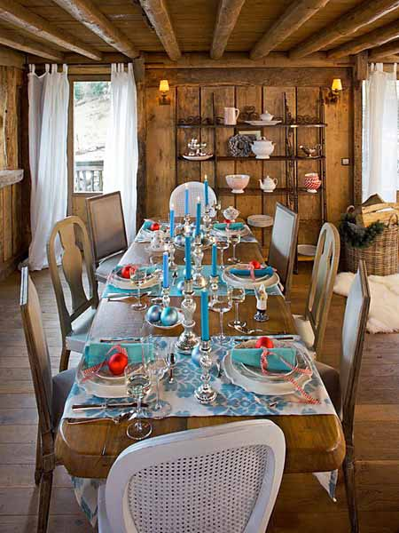 embroidery is sophisticated and intricate especially for festive country christmas decorations like winter holiday tablecloth and napkins - Country Christmas Table Decorations
