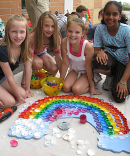 Artistic Ways To Recycle Bottle Caps Recycled Crafts For Kids