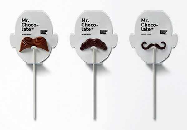dark chocolate moustache treats on sticks