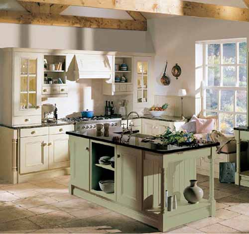 Kitchen Interior Paint Design: Green Kitchen Paint Colors And Green Wallpapers For Kitchen Decorating