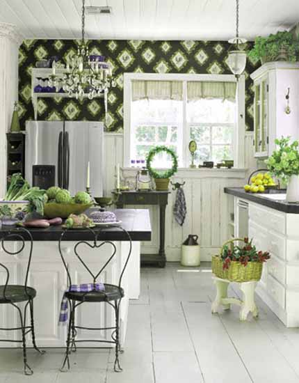 green kitchen wallpaper green kitchen paint colors and green wallpapers for 1452