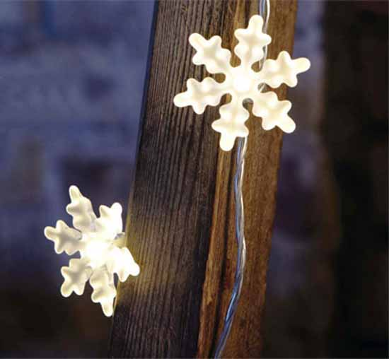 snowflakes christmas lights