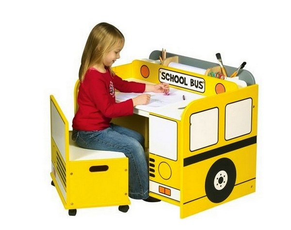 school bus table for kids room
