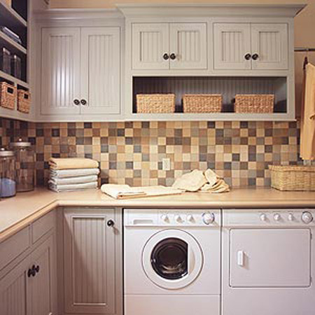 laundry room design in eco style