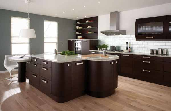 Contemporary Kitchens Wood Amazing Decorating Ideas