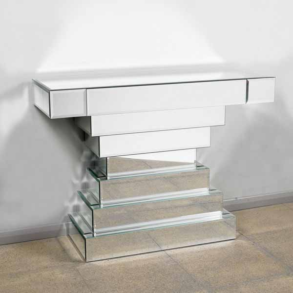 Well-known Mirrored Console Table and Coffee Table Designs, Stretching Small  OH75