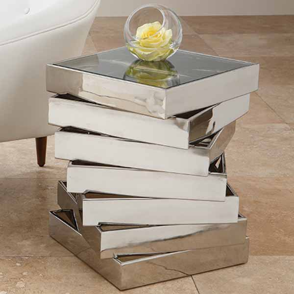 Mirrored Console Table And Coffee Table Designs Stretching Small Spaces