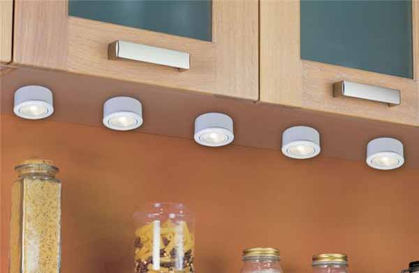kitchen light ideas for storage shelves and drawers