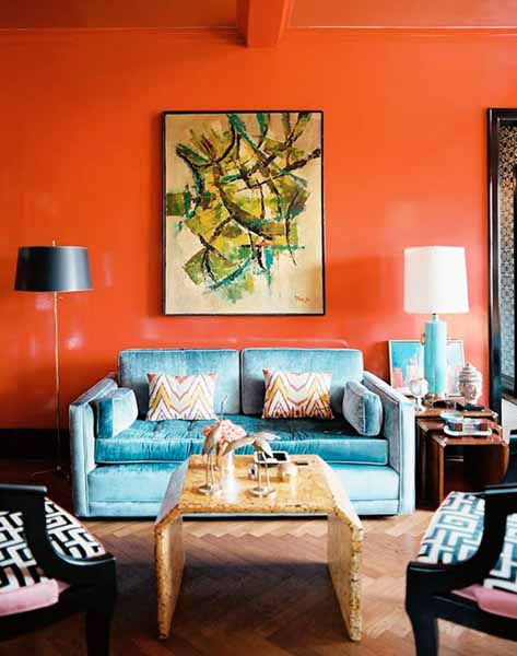 Orange Room Colors, Pantone Tangerine Tango, Modern ...
