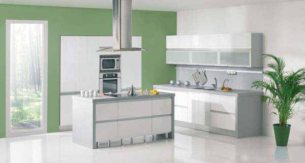White And Green Kitchen Paint Colors