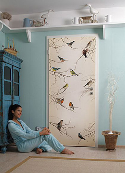 Bird Images And Painting Ideas For Modern Door Decoration