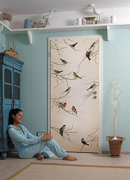 Interior Door Painting Ideas Intended Bird Images And Painting Ideas For Modern Door Decoration 11 Door Decorating Ideas To Create Modern Interior Doors