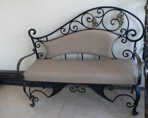rod iron furniture design. Wrought Iron Chair Or Bench With Soft Decorative Cushions Can Dramatically  Change Your Bedroom Master Bathroom, Creating Modern Interior Design Home Rod Furniture
