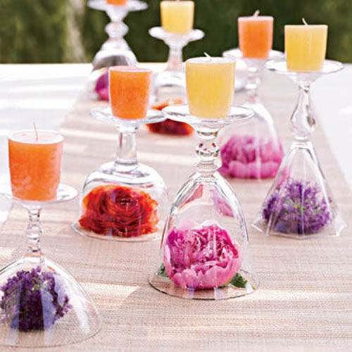 20 candles centerpieces romantic table decorating ideas for rh lushome com centerpiece for dining table ideas Formal Table Centerpiece Ideas