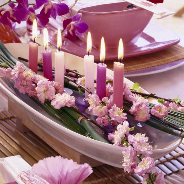 20 Candles Centerpieces, Romantic Table Decorating Ideas