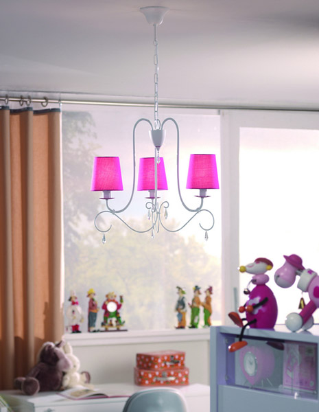 Contemporary Lighting Ideas For Kids Rooms, Pink Chandelier For Girls  Bedroom Decorating