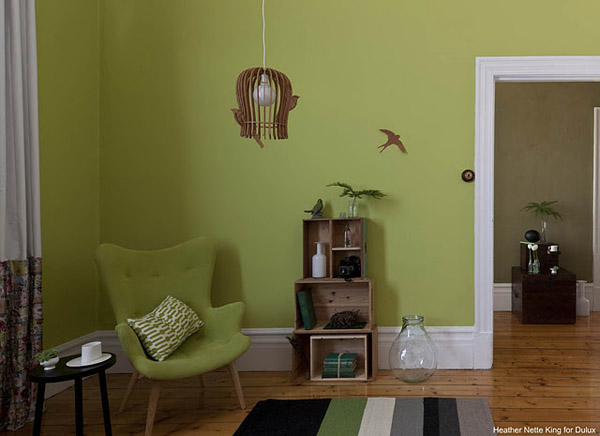 Green Wall Painting Ideas Modern Interior Decorating Color Combination