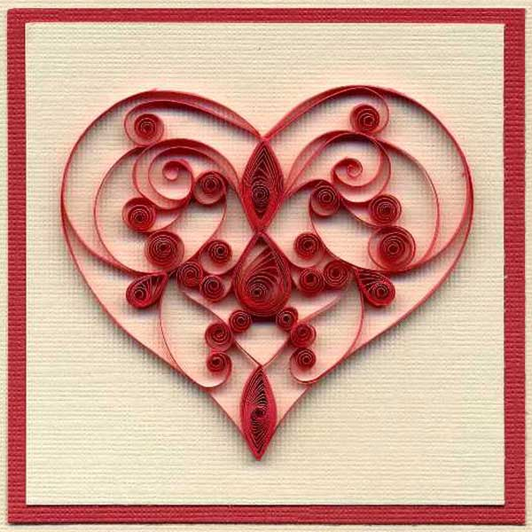 Inspiring quilling designs paper crafts and unique gift for Quilling heart designs