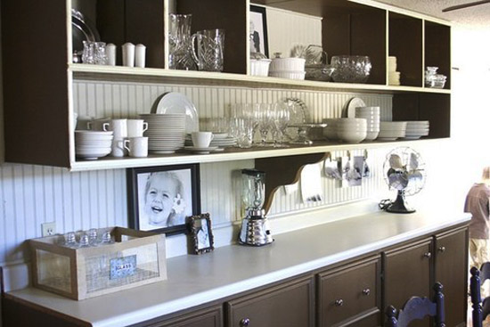 Open Kitchen Shelves For Storage