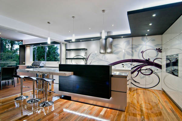 Black And White Modern Kitchen Design By Sublime Architectural Interiors